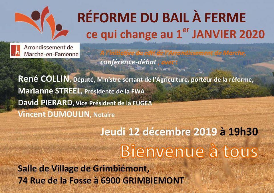 REFORME du BAIL à FERME, ce qui change au 1er janvier 2020