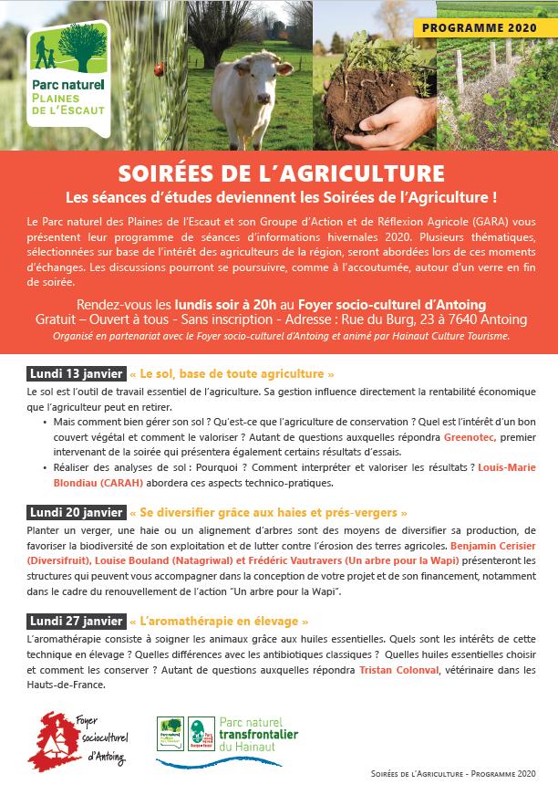 SOIREES de l\'AGRICULTURE 2020 du Parc naturel ds Plaines de l\'Escaut