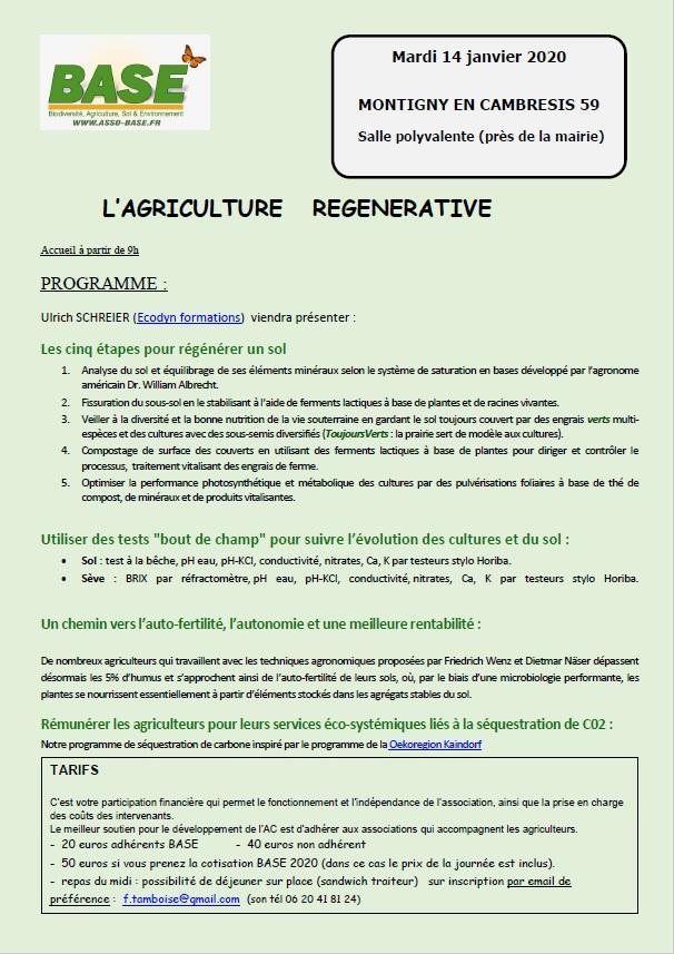 Journée sur l\'agriculture régénérative à Montigny en Cambresis