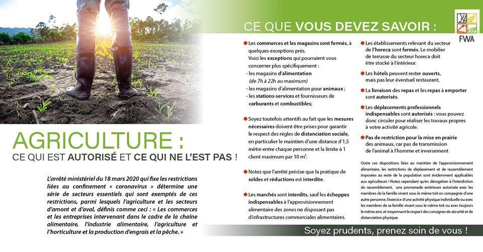 Agriculture... ce qui est autorisé et ce qui ne l\'est pas !