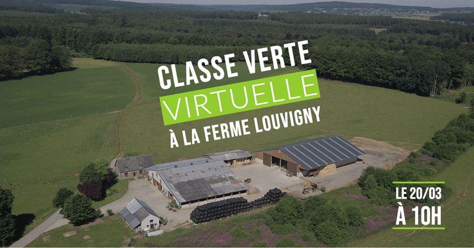 CLASSE VERTE VIRTUELLE. La Ferme Louvigny était en direct ce mercredi 25 mars.