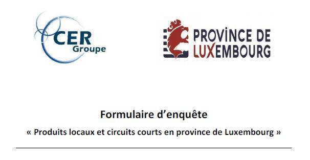 ENQUETE « Produits locaux et circuits courts en province de Luxembourg »