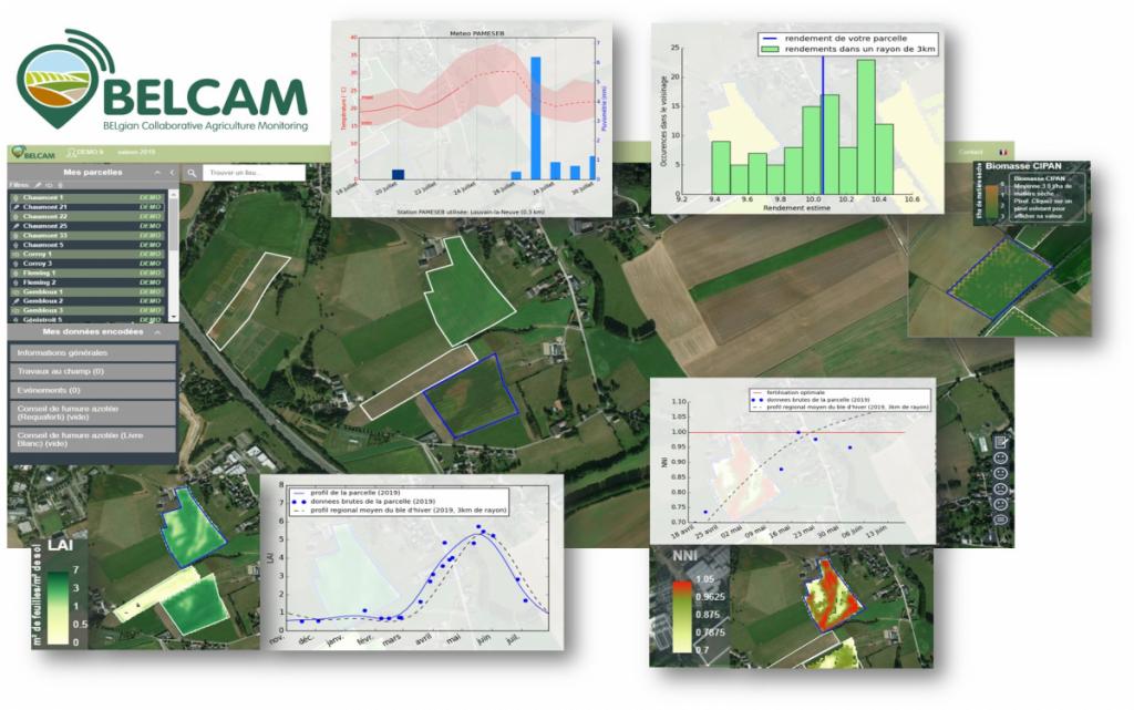 BELCAM, plateforme collaborative pour le suivi des parcelles agricoles