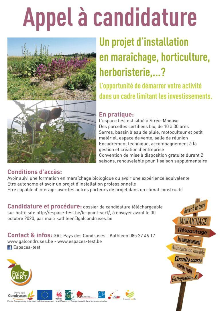 Des parcelles de 10 à 30 ares pour démarrer votre projet d\'installation en maraîchage, horticulture, herboristerie,… à Strée-Modave ?