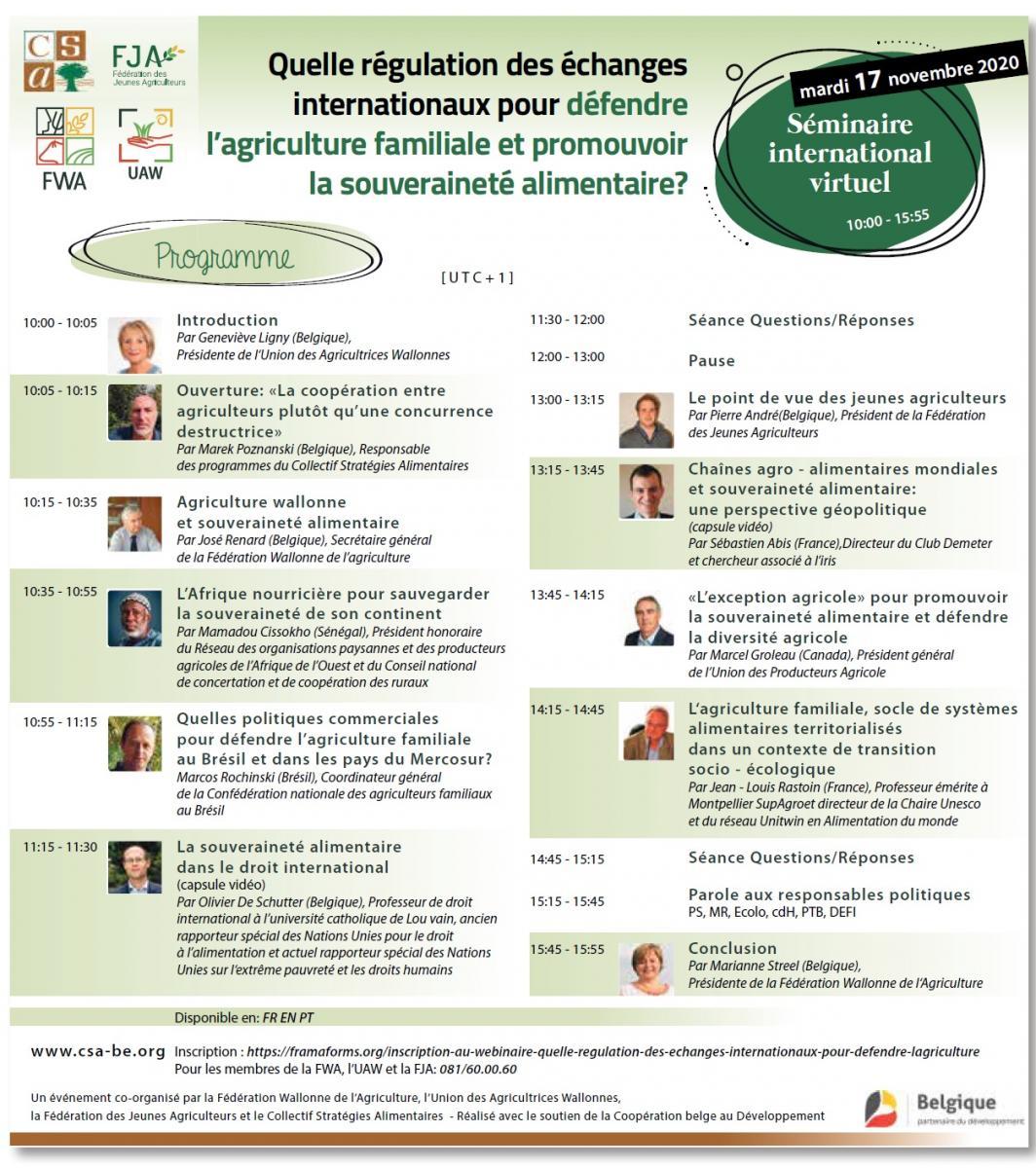 Quelle régulation des échanges internationaux pour défendre l'agriculture familiale et promouvoir la souveraineté alimentaire ?