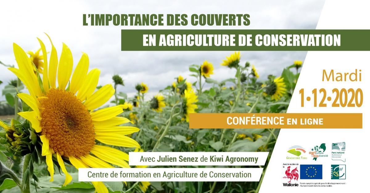 Conférence avec Julien Senez - Couverts végétaux & agriculture de conservation
