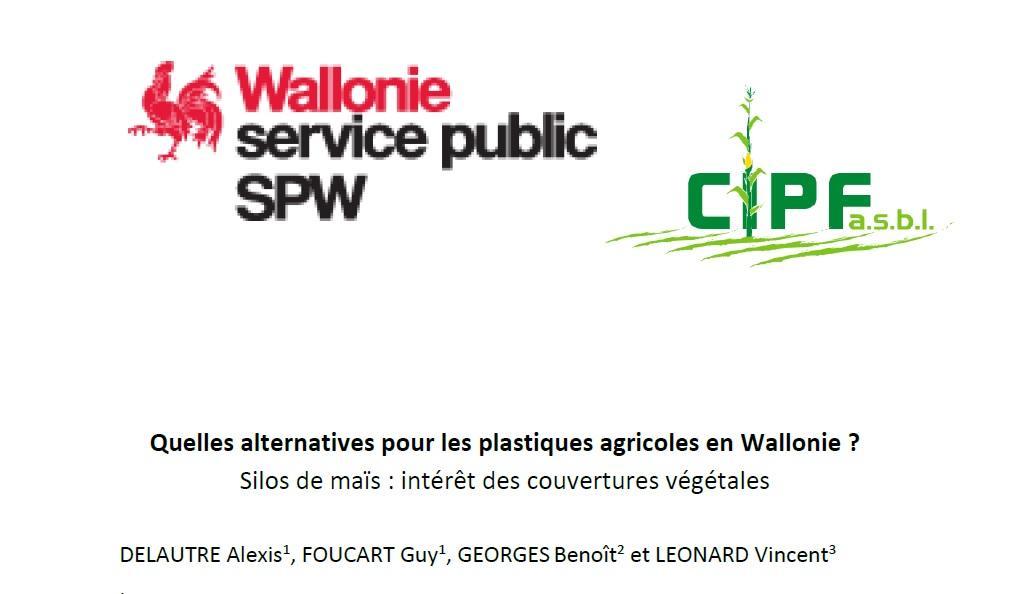 Quelles alternatives pour les plastiques agricoles en Wallonie ? Silos de maïs : intérêt des couvertures végétales