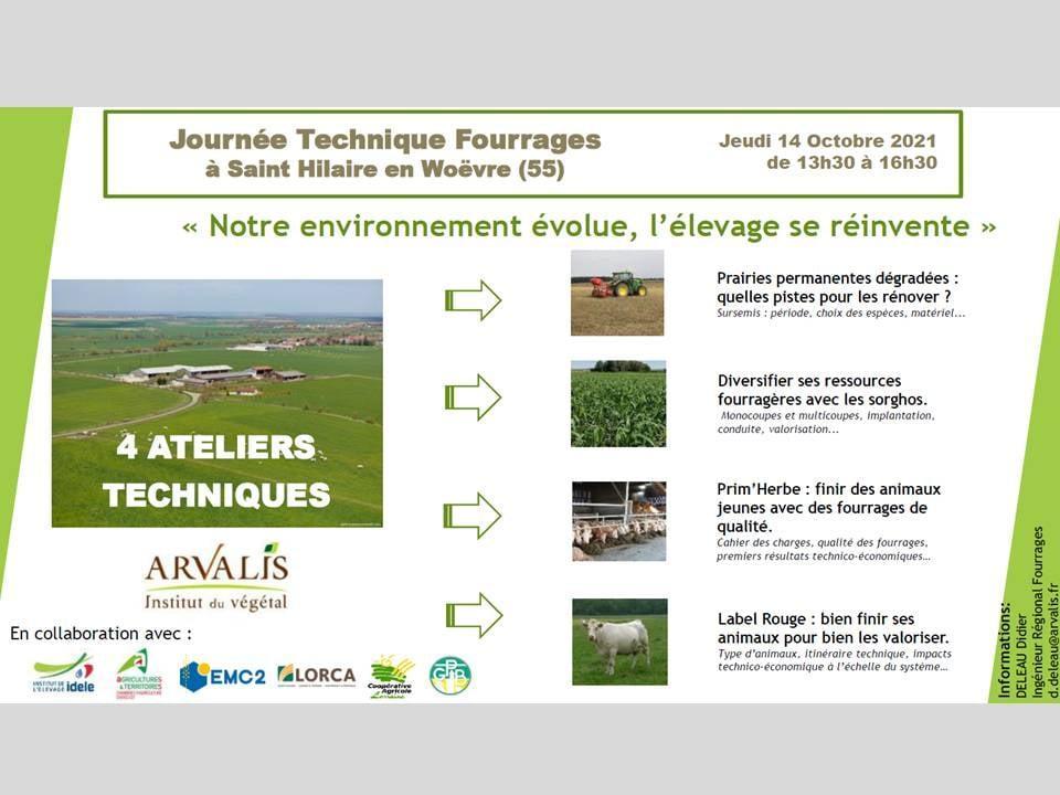 Journée Technique Fourrages le 14/10/21 (13h30) à Saint Hilaire en Woëvre (FR55)