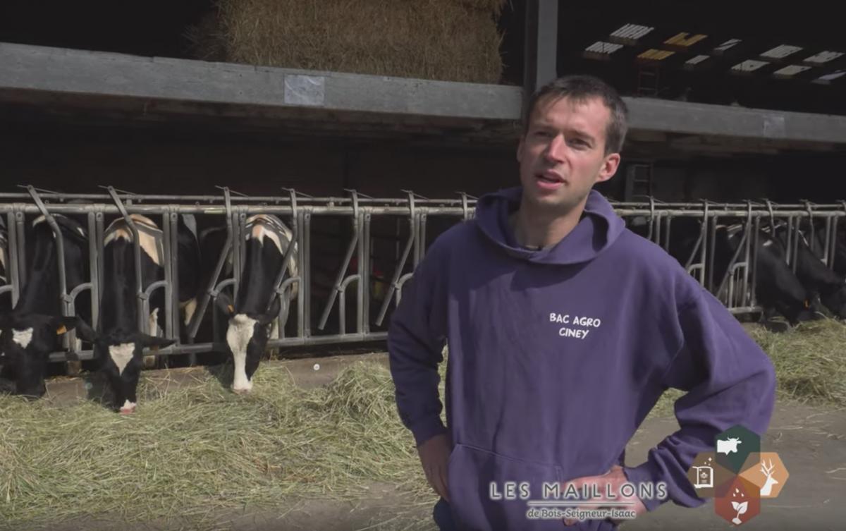 Maillon élevage et agriculture - Ferme de taille familiale - le fils Jonas Pussemier