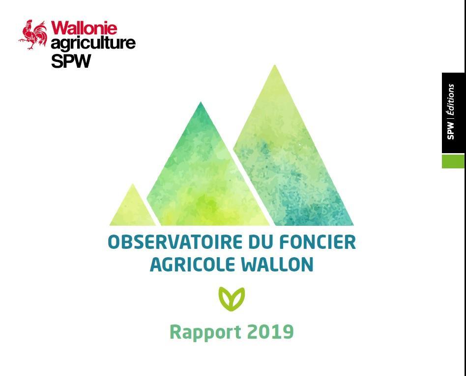 Le rapport 2019 de l'Observatoire du foncier agricole wallon est disponible.