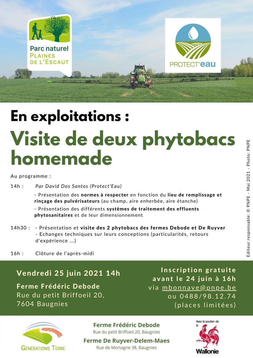 Visite de 2 phytobacs à Baugnies (Péruwelz) le 25 juin à 14h